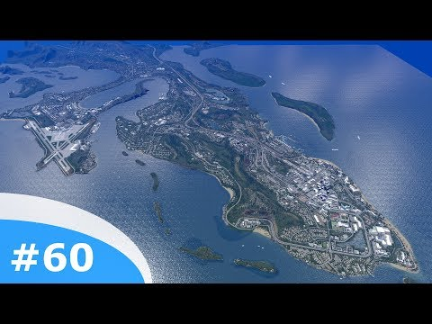 Cities Skylines - Littletown: 60 - Overview of a developed peninsula