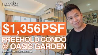 Oasis Garden: $1,356 PSF Spacious 3 Bedroom Freehold Singapore Condo Property District 19 ($1.59M)