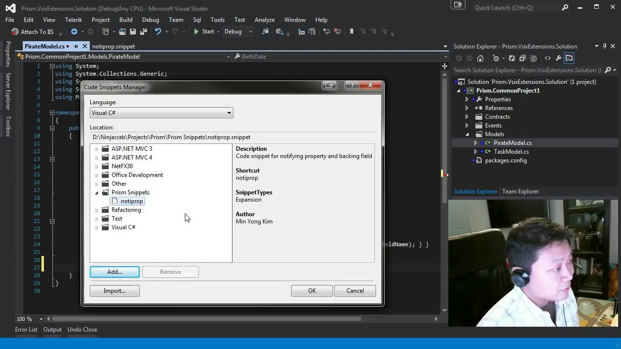 Random coding session 2 custom visual studio snippets for Customizing project templates