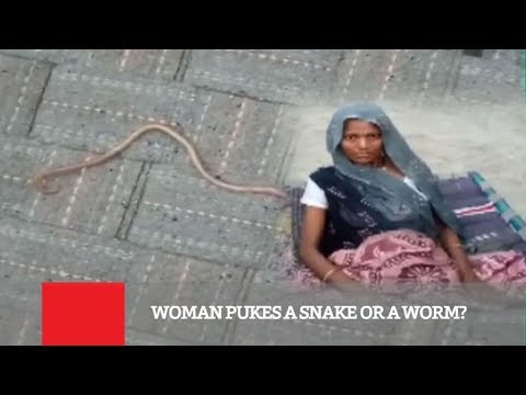 Woman Pukes A Snake Or A Worm?