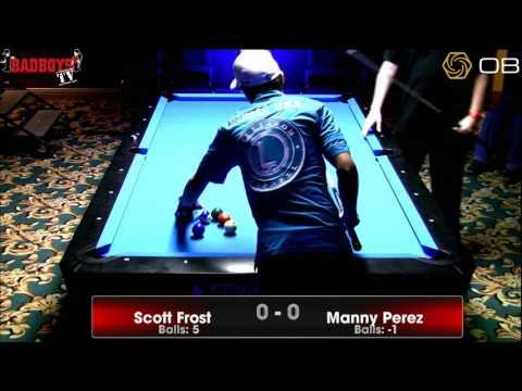 Scott Frost vs  Manny Perez  One Pocket