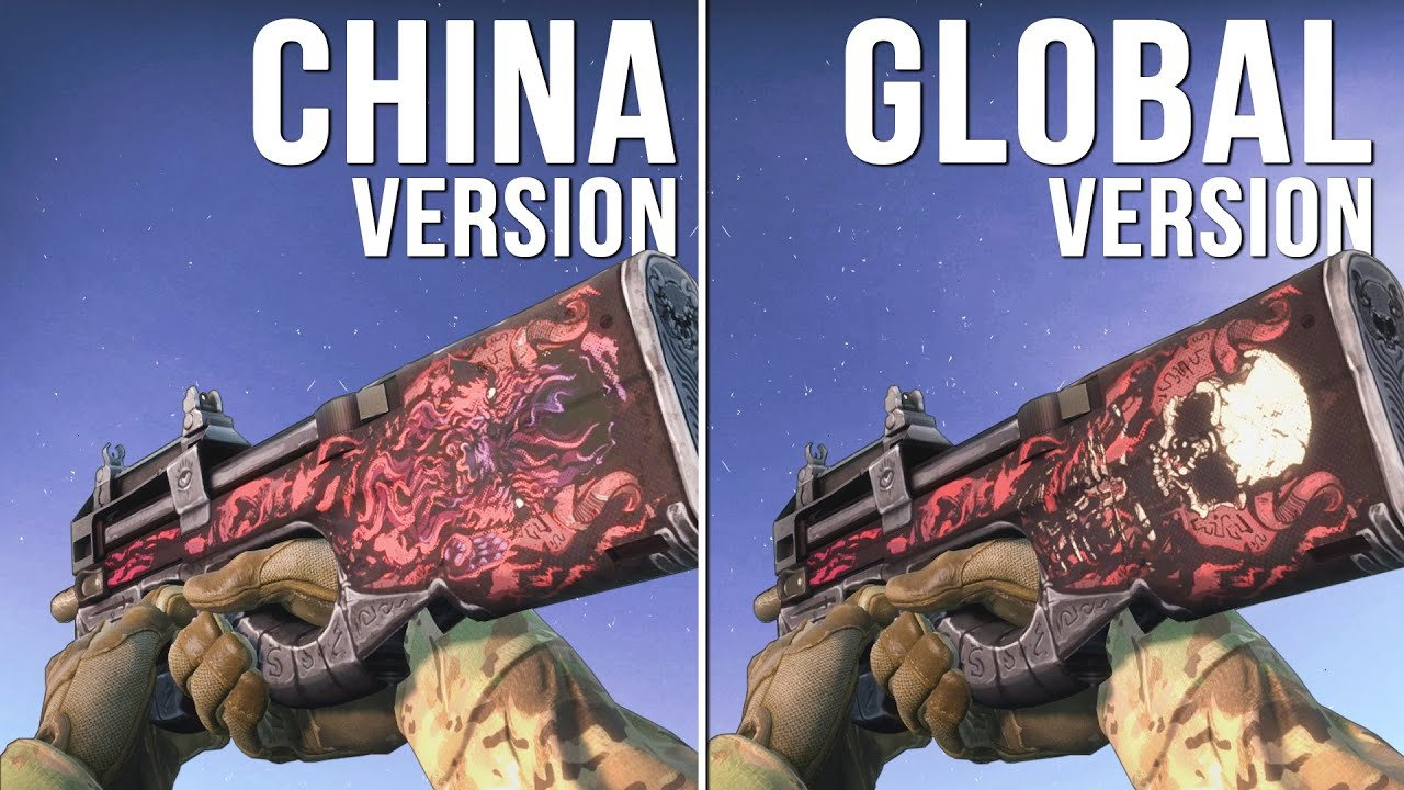 cs go china version vs global version weapon skins part 02
