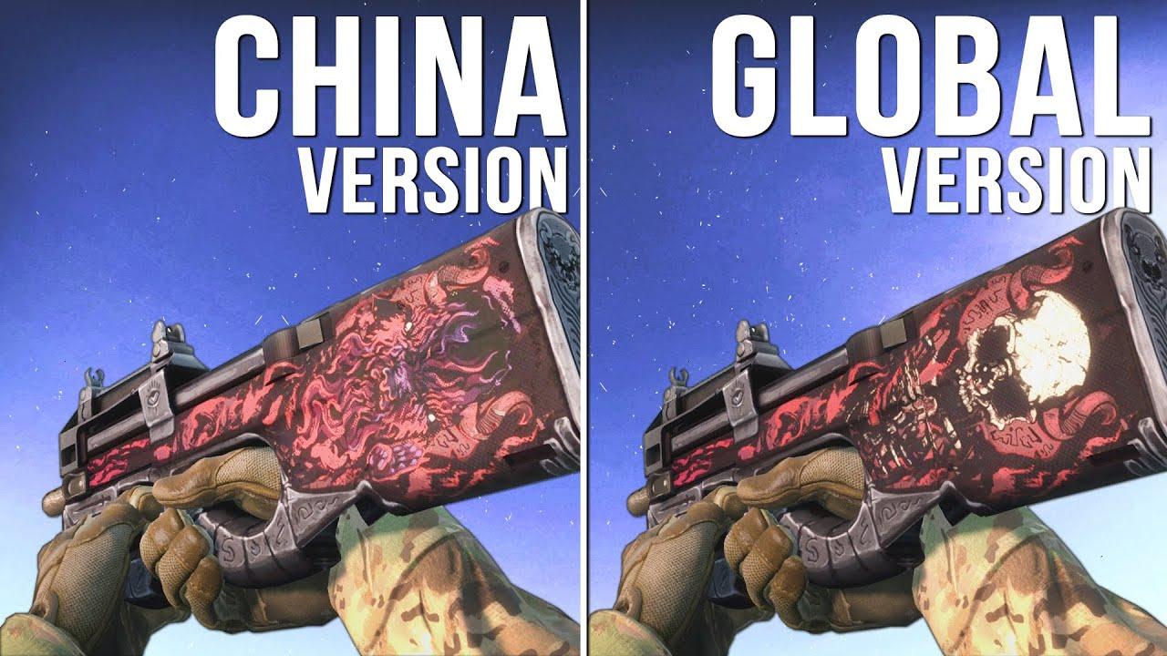 cs go china version vs global version weapon skins part 02