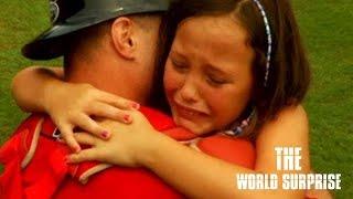 Greenwood Soldier Surprises Daughter at Drive Game