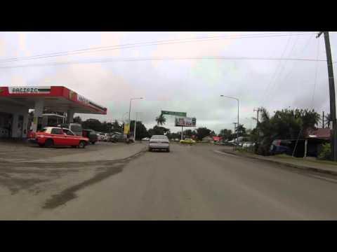 Fidji Viti Levu Route aéroport Suva centre ville, Gopro / Fiji Road airport Suva center, Gopro
