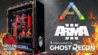 ARK, ARMA 3 & Ghost Recon: Wildlands in DREIMAL 4K!!! - Höllenmaschine 8 | #Gaming-PC