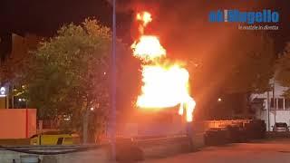 In fiamme un camper a Borgo San Lorenzo