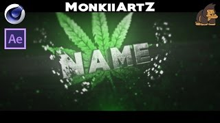 FREE 3D Marihuana Weed Sync Intro Template #006 by MonkiiArtZ [C4D&AE]