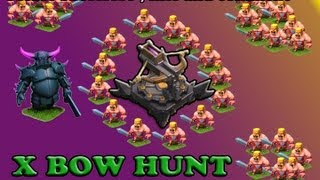 Clash of Clans x-bow hunt , pekka , dragons, giants and healer attack strategy