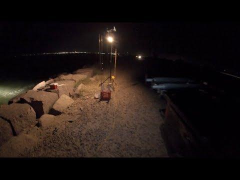 Night Fishing Texas City Dike