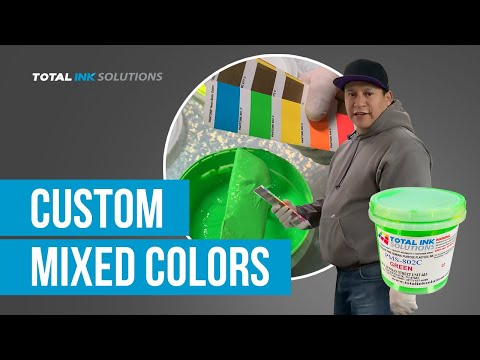 Custom Mixed Colors :: Screen Printing Supplies & Equipment | Total Ink Solutions