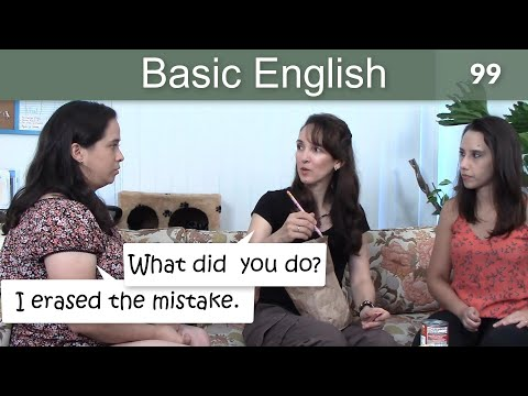 Lesson 99 ?????Basic English with Jennifer - Past Tense Verbs & Collocations