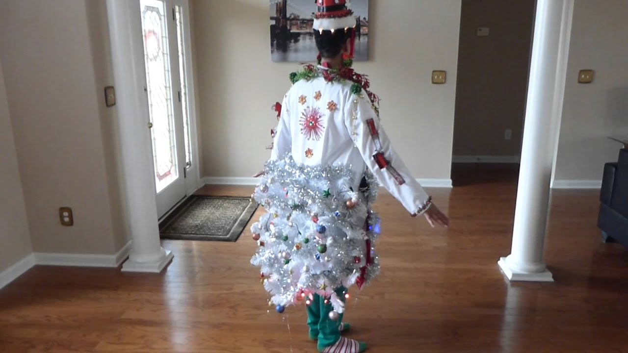 Diy Ugly Christmas Sweater Outfit With Lights Music Scents