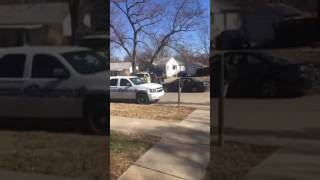car vs house in east topeka after apparent chase