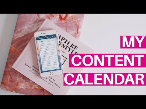 CONTENT CALENDAR   How to Organise your Content Schedule