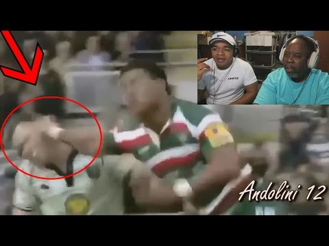 Dad Reacts to Brutal Rugby - Hits, Tackles & Fights