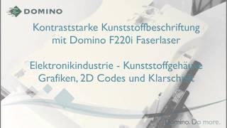 Domino F220i Faserlaser: Kontraststarke Laserbeschriftung von Elektronikbauteilen aus Kunststoff(Ob Gravur oder Farbumschlag, der Domino F220i Faserlaser überzeugt durch eine hohe Strahl- und Markierqualität. Sie müssen Kunststoffgehäuse oder ..., 2015-07-01T12:24:27.000Z)