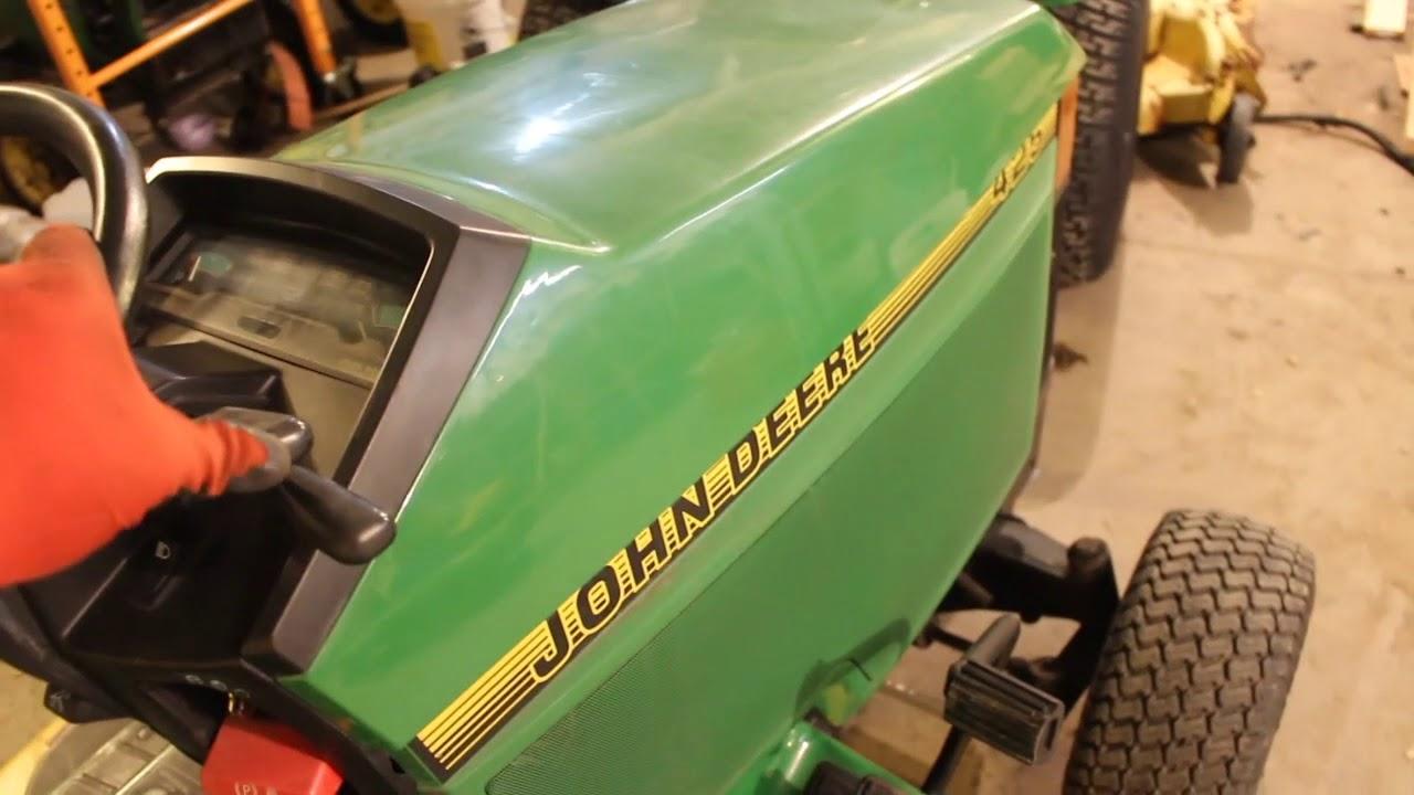 john deere 425 lawn tractor mower wiring schematics john deere 425 445 455 deck installation youtube  john deere 425 445 455 deck