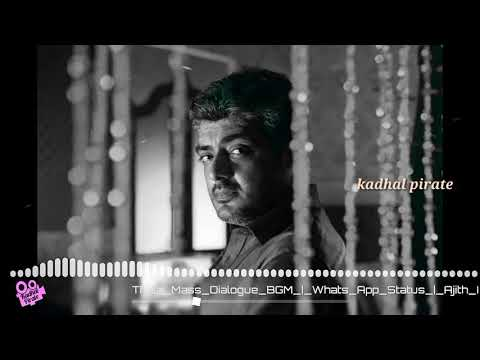 Sarthiratha oru nimasam / Ajith mass dialogue / Mankatha bgm /kadhal pirate