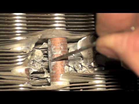 Air conditioner outdoor coil repair