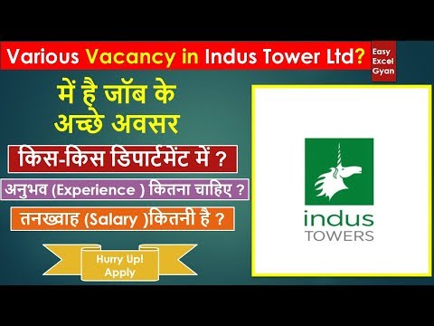 Job Opening In Indus Tower Limited By Easyexcelgyan Aug'19