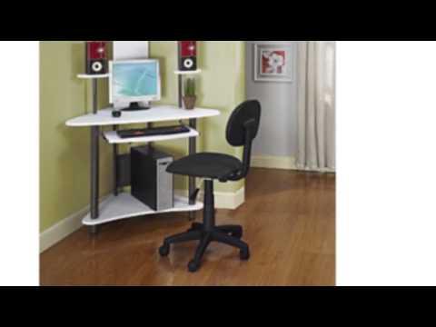 Pewter Finish Corner Workstation Kids Children's Computer Desk