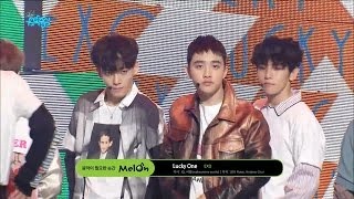 【TVPP】 EXO - Lucky One, 엑소 – 럭키 원 @Comebacke Stage, Show! Music Core Live