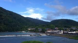 2017年8月13日 日 夏 お盆の時期 京都嵐山 朝の渡月橋 ☆ Togetukyo Arashiyama