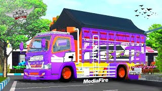Mod Bussid Terbaru Truck Canter Nafeeza, Full Anim, Super Detail || BUSSID V3.6.1