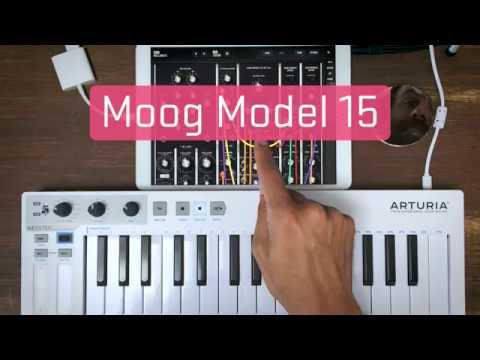 Moog Model 15 on iPad - mini improvised jam