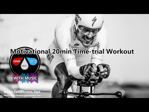 Turbo-training or FTP test 20min motivational footage (128bpm music) like FREE Sufferfest workout