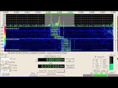 Modulation Example, Digital, Link 11, 6947 kHz, USB, September 22, 2013, 0249 UTC