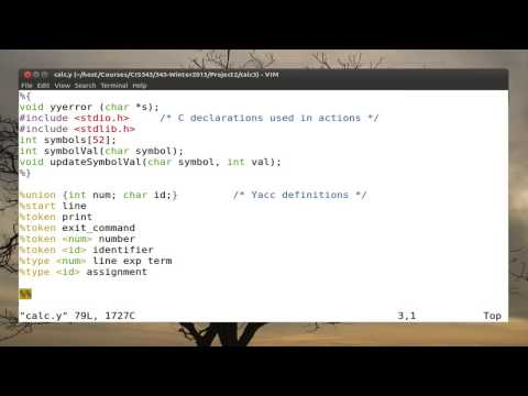 Part 02: Tutorial on lex/yacc.