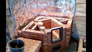 видео Как построить камин своими руками: пошаговая инструкция