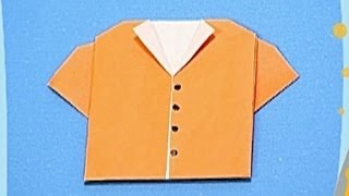 How to make a Paper Shirt (Tutorial) - Paper Friends 19   Origami for Kids