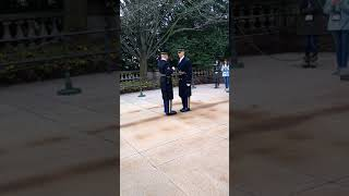 Guard fails inspection at The Tomb of The Unknown Soldier!!!