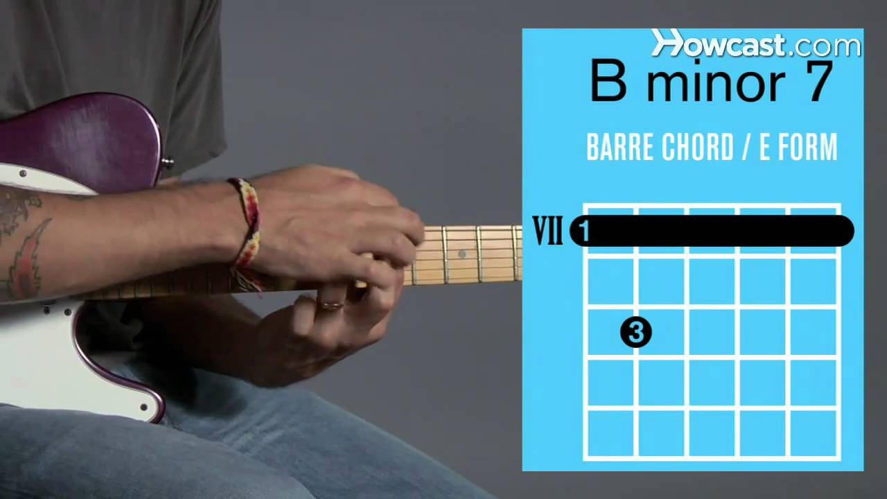 How to play a b minor 7 barre chord guitar lessons youtube hexwebz Gallery