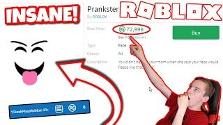 BUYING THE PRANKSTER FACE ON ROBLOX! (2018)