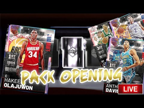 WE PULLED AD!!! GALAXY OPAL HAKEEM ANTHONY DAVIS & LONZO NBA DRAFT PACK OPENING NBA 2K19
