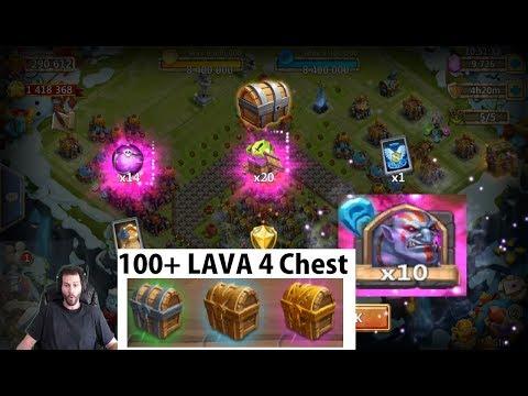 Opening Over 100 LAVA 4 Chests Walla WALLA Soulstones Castle Clash