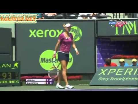 Maria Sharapova vs Elena Vesnina WTA Miami 2013 Sony Open Tennis 2013 1R 6-4