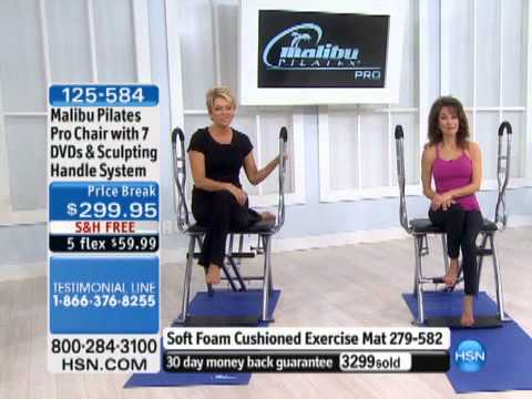 Malibu Pilates Pro Chair Fishing Tcg With 7 Dvds And Sculpting Handl... - Youtube