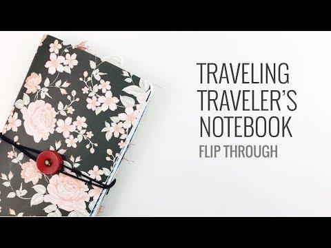 Traveling Traveler's Notebook Flip Through | No.1