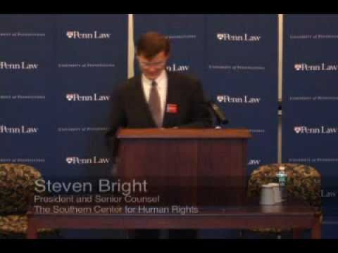 """""""The Need For a Bailout for the Constitutional Right,"""" Stephen Bright (3/16/2009)"""
