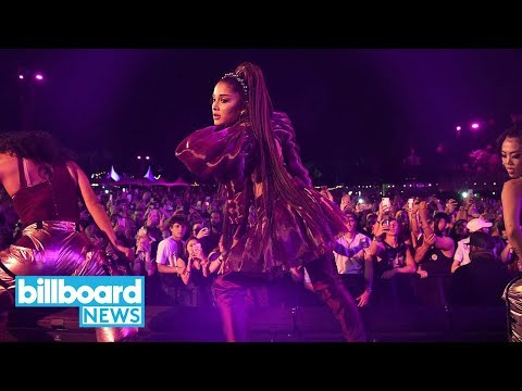 Ariana Grande Hit With Lemon During Coachella Performance | Billboard News