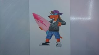 Time Lapse Drawing: Poochie from