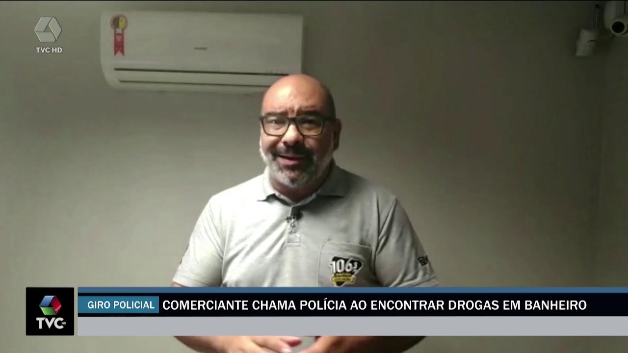 Homem encontra drogas no banheiro de comércio e chama a polícia