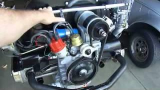 vw 1835 engine test stand running