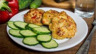 Куриные котлеты с овощами. Легко, вкусно и их всегда мало:)