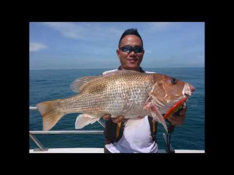 Malaysia Port Klang Slow jigging trip Vs 19kg goruper fish  2016